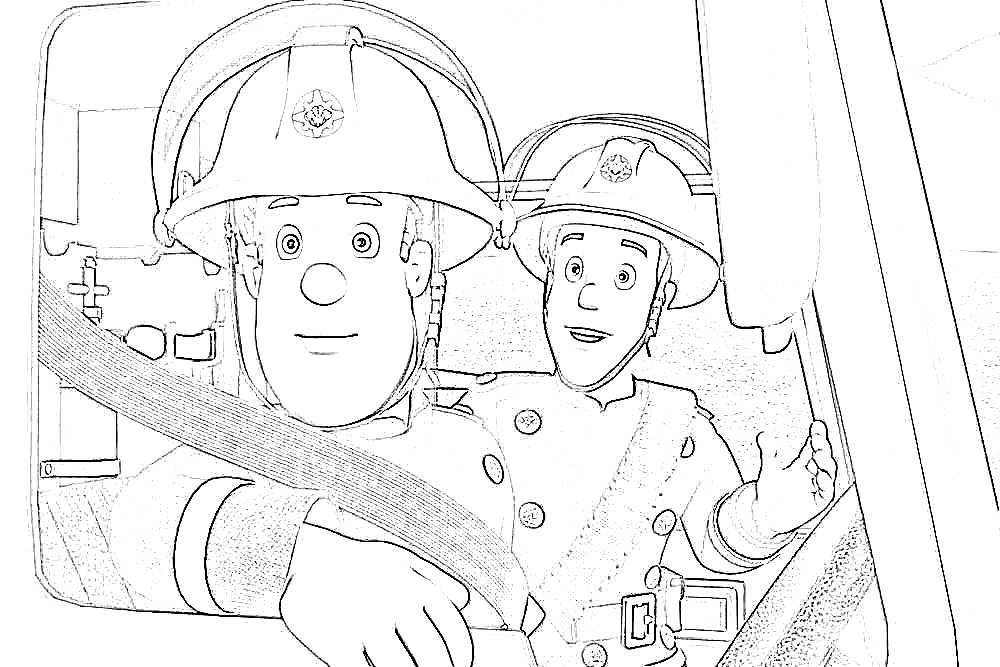 Firefighter Printable Coloring Pages