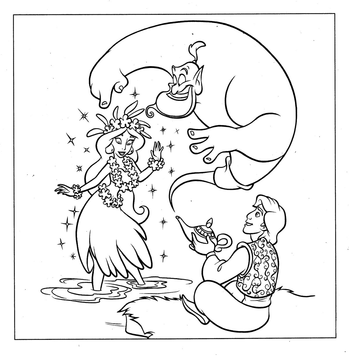 aladdin coloring pages free - photo#34