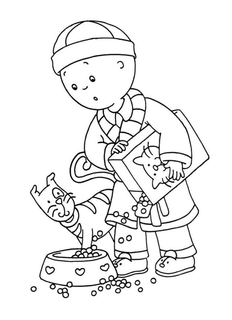 caillou online coloring pages - photo#1