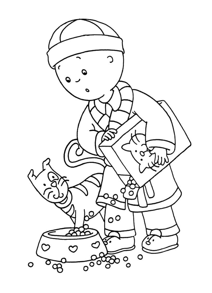 Free printable caillou coloring pages for kids Coloring book for toddlers