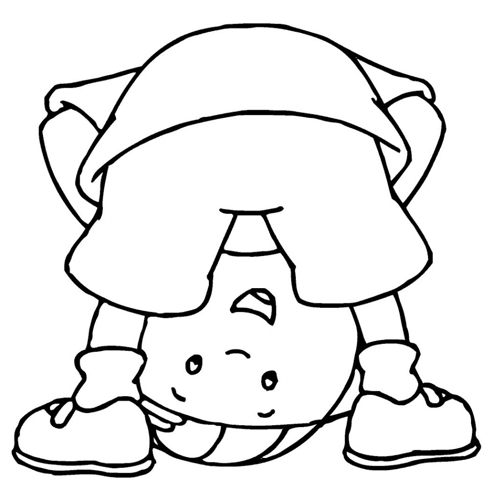 Free Caillou Coloring Pages For Kids