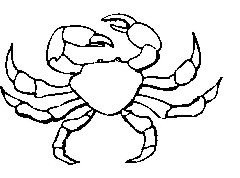 Free Crab Coloring Pages