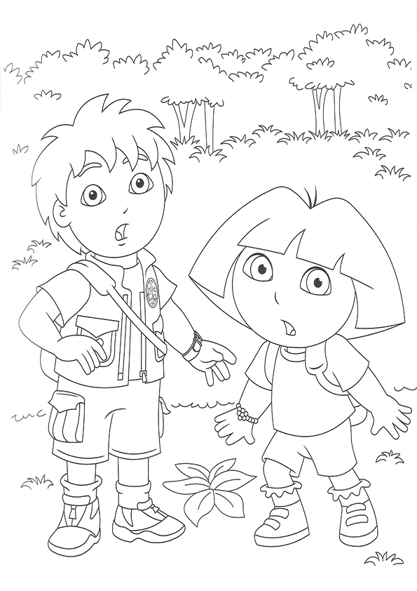 Free Diego Coloring Pages For Kids