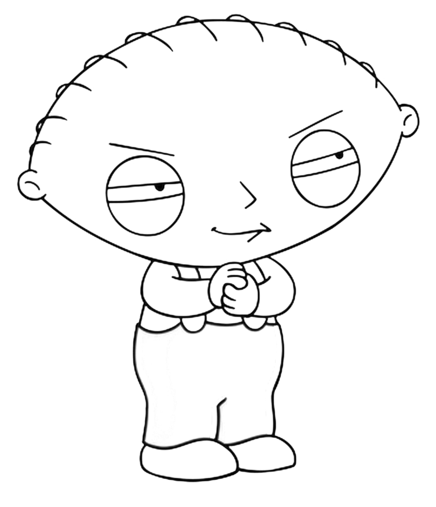 Free printable family guy coloring pages for kids for Coloring pages to color online for free