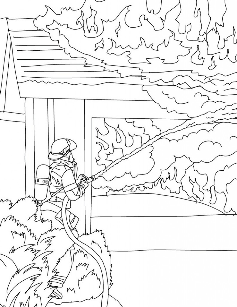 Free Printable Firefighter Coloring