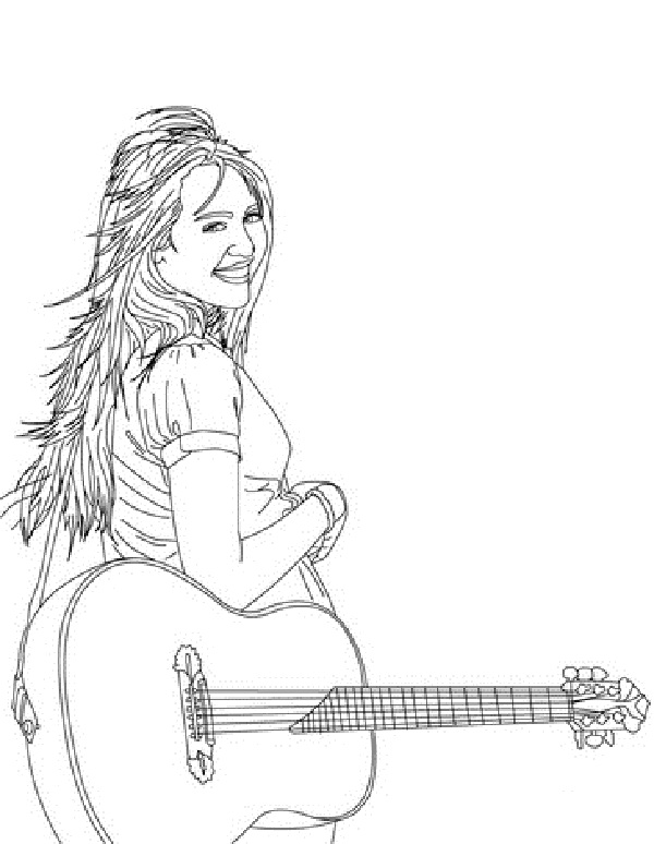 Free Hannah Montana Coloring Pages