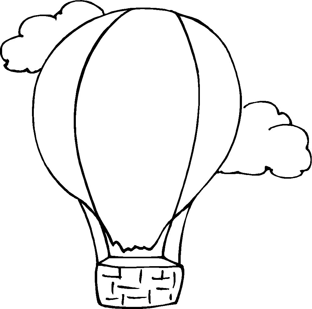 Blank Hot Air Balloon Coloring Page Coloring Pages