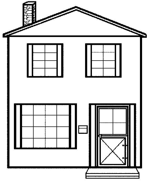 Free printable house coloring pages for kids for Photo to coloring page