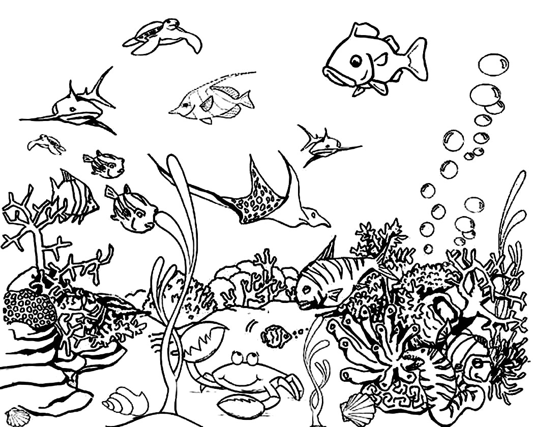 ocean scene coloring pages Free Printable Ocean Coloring Pages For Kids ocean scene coloring pages