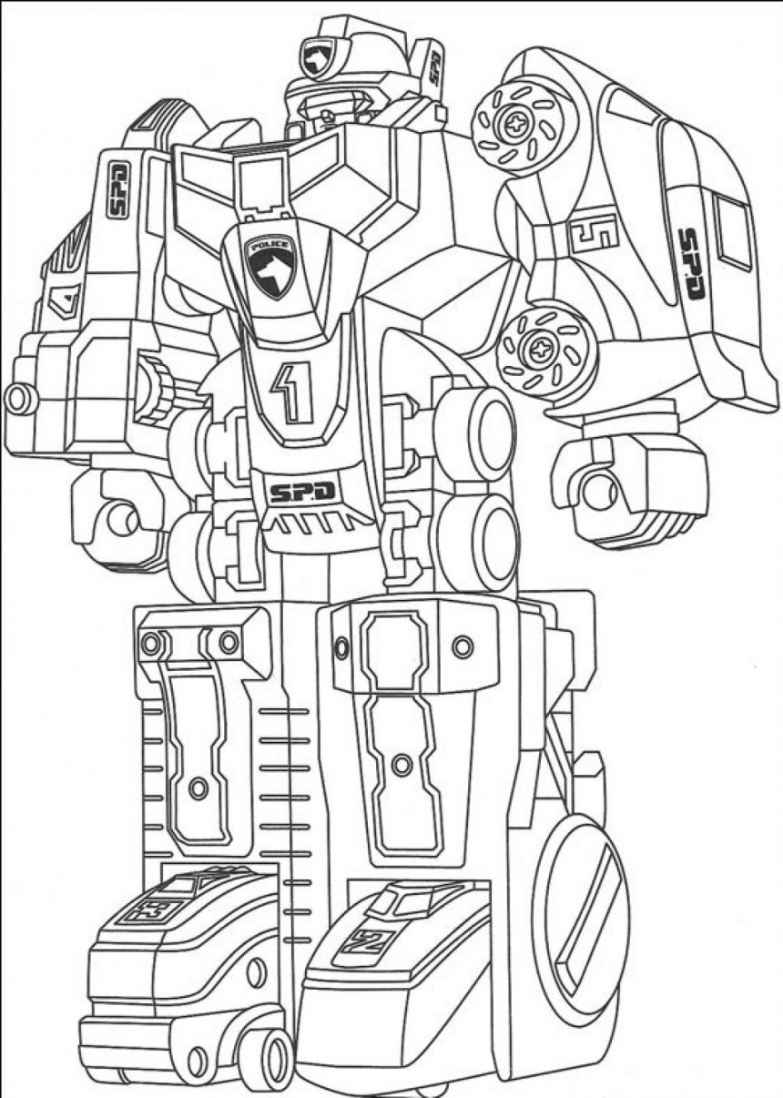 free robot coloring pages for kids