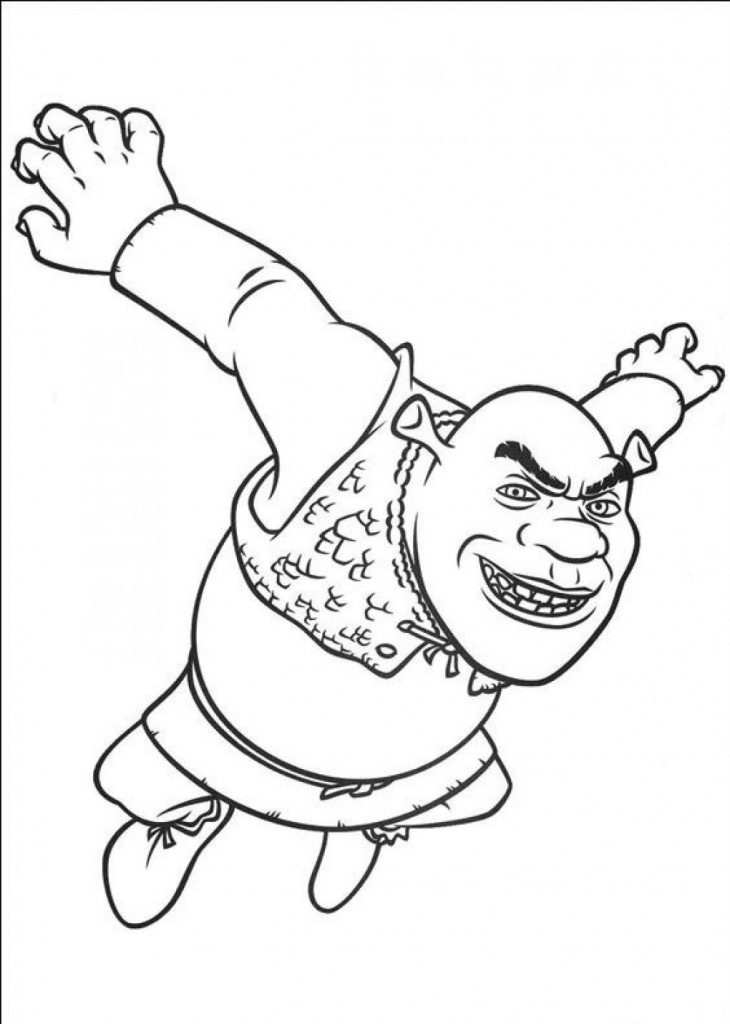schreak coloring pages free - photo#19
