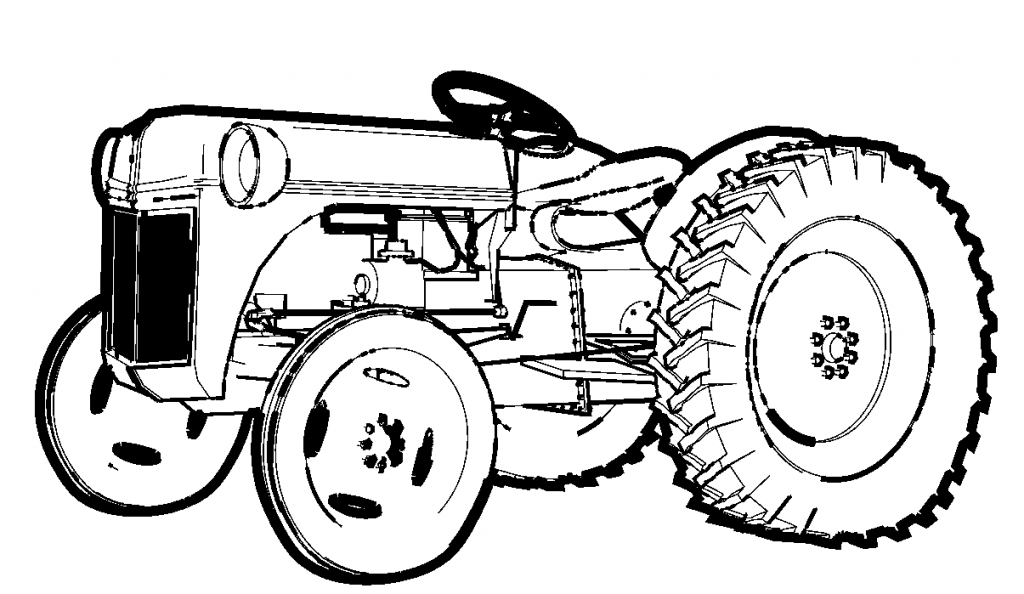 Free Tractor Coloring Pages