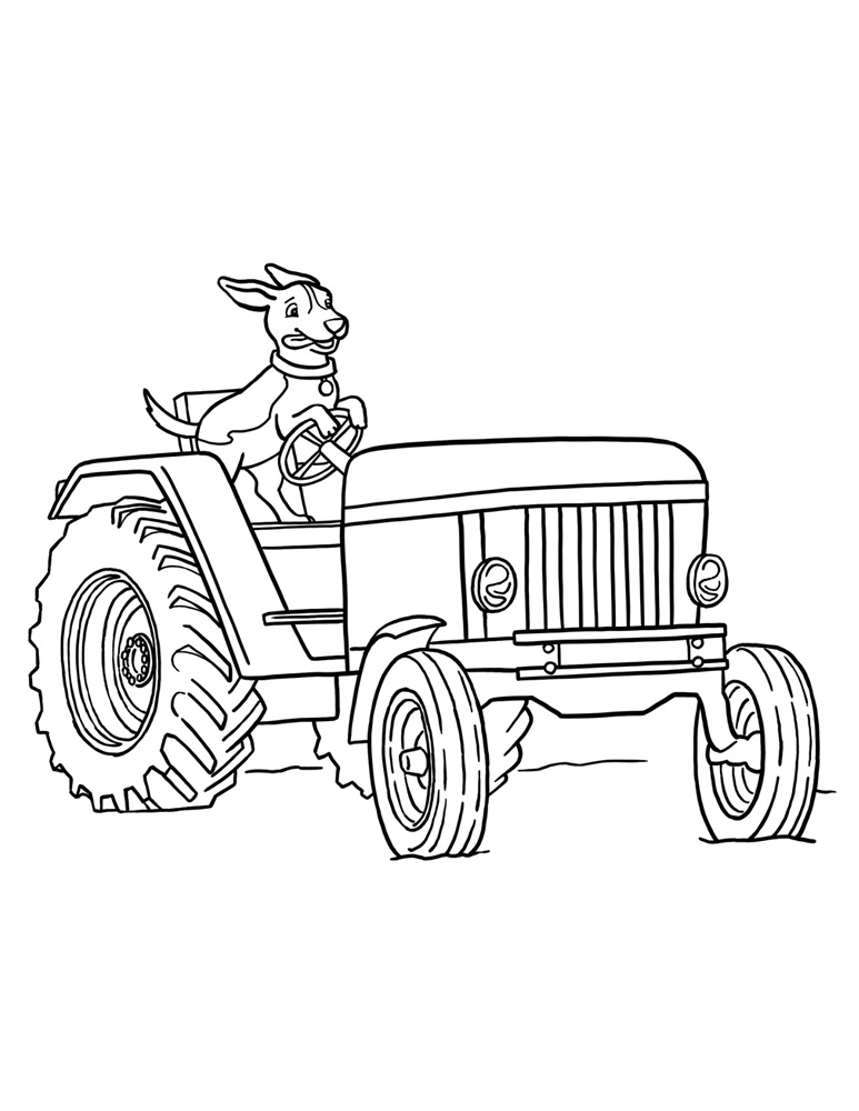 Mickey Mouse Cartoons John Deere Tractors : Free printable tractor coloring pages for kids