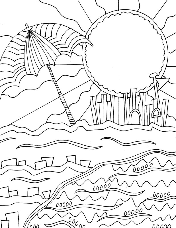 Fun Beach Coloring Pages