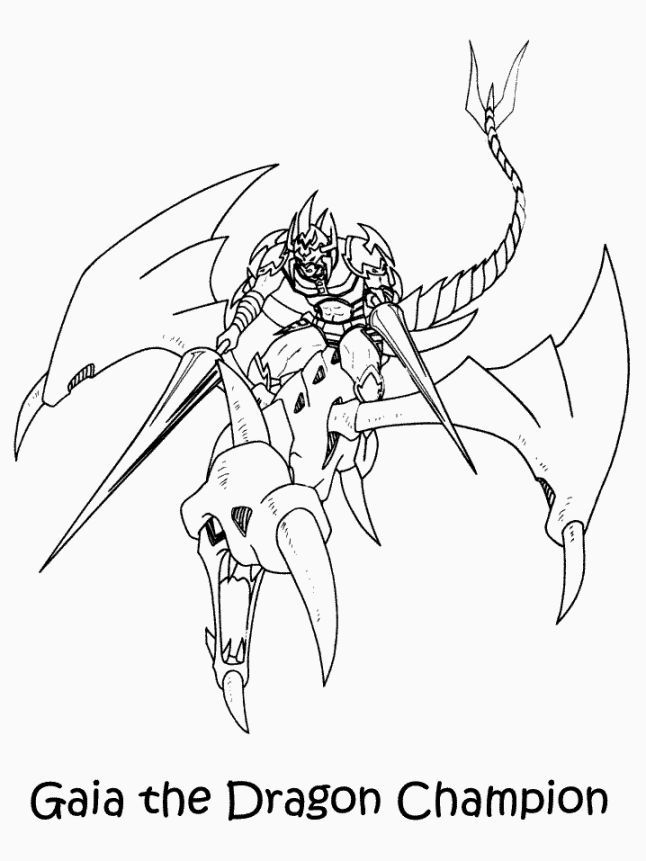 Free Printable Yugioh Coloring