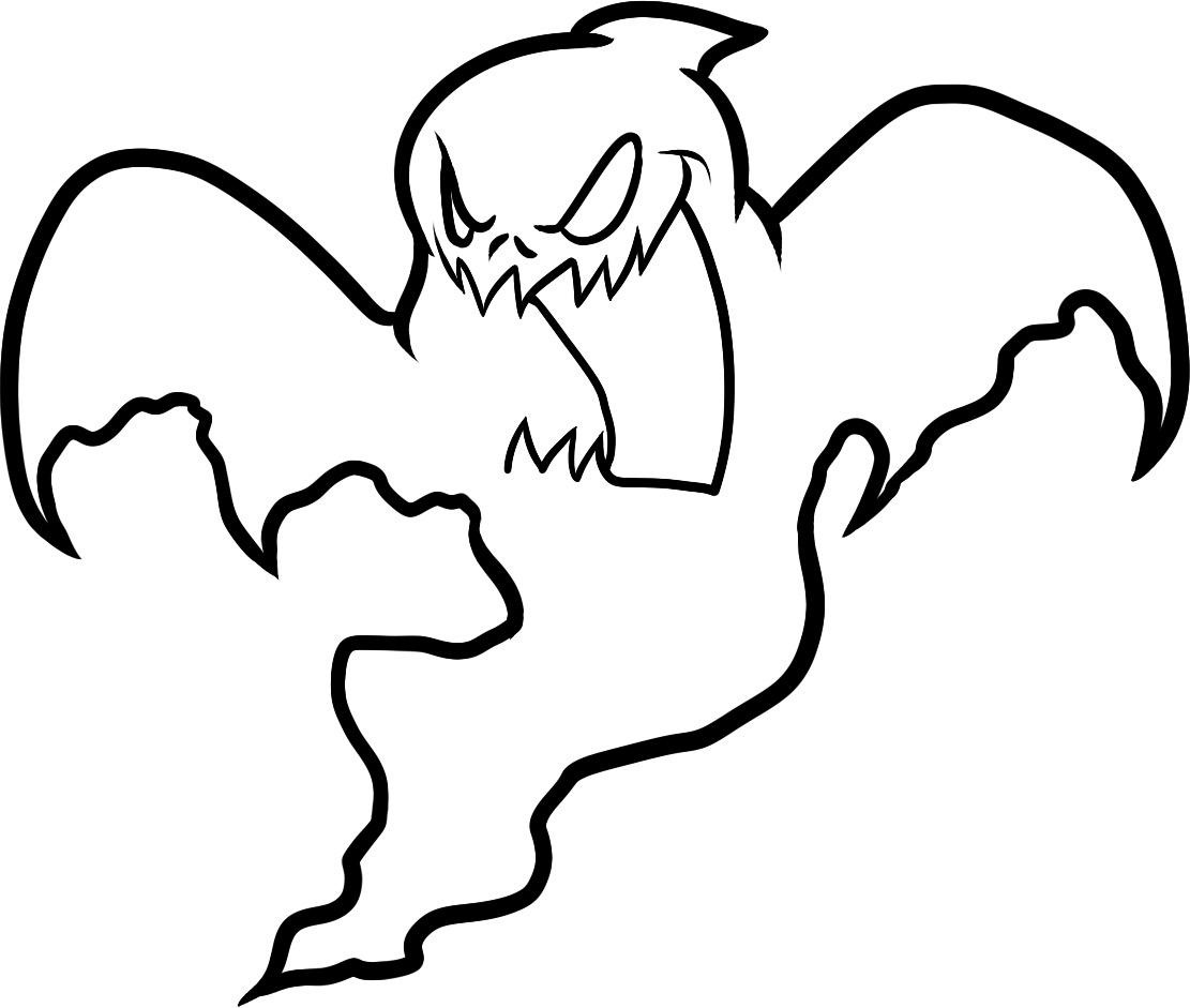 Free Printable Ghost Coloring Pages