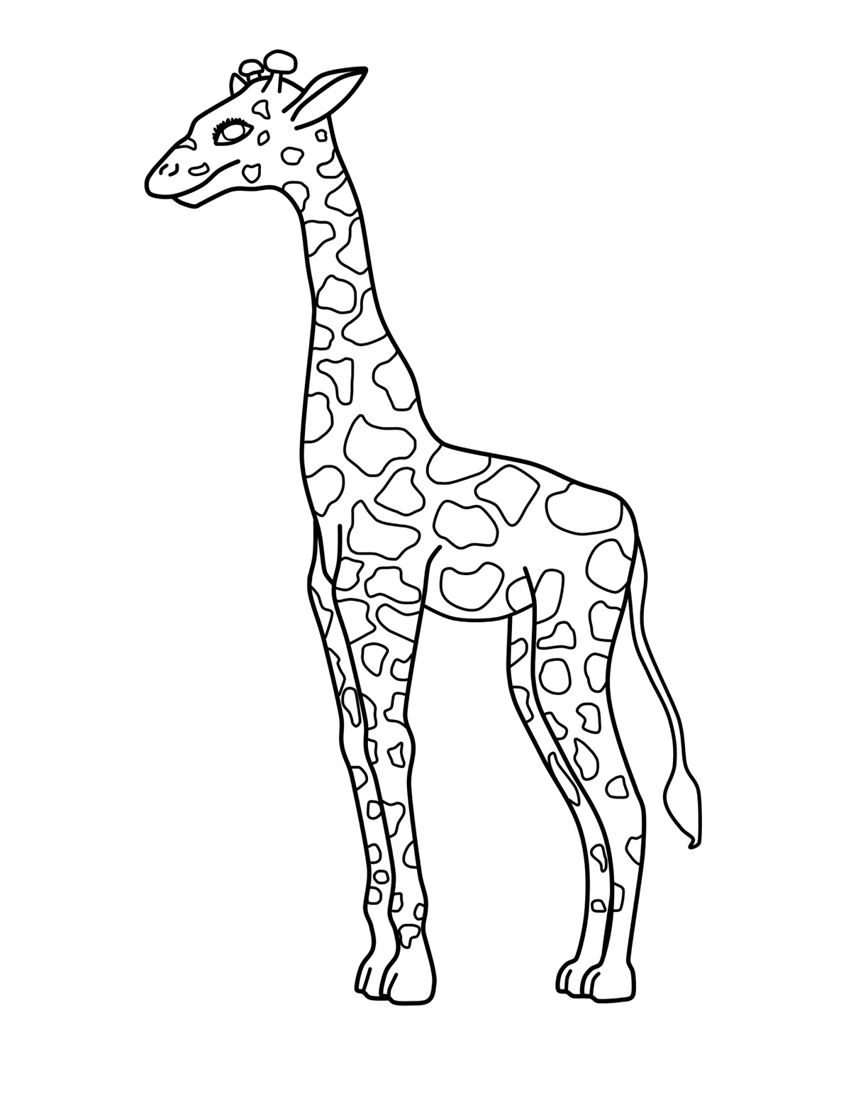 coloring pages of girafes | Free Printable Giraffe Coloring Pages For Kids