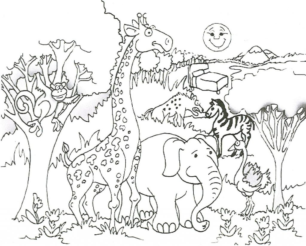 Giraffe Coloring Page Picture