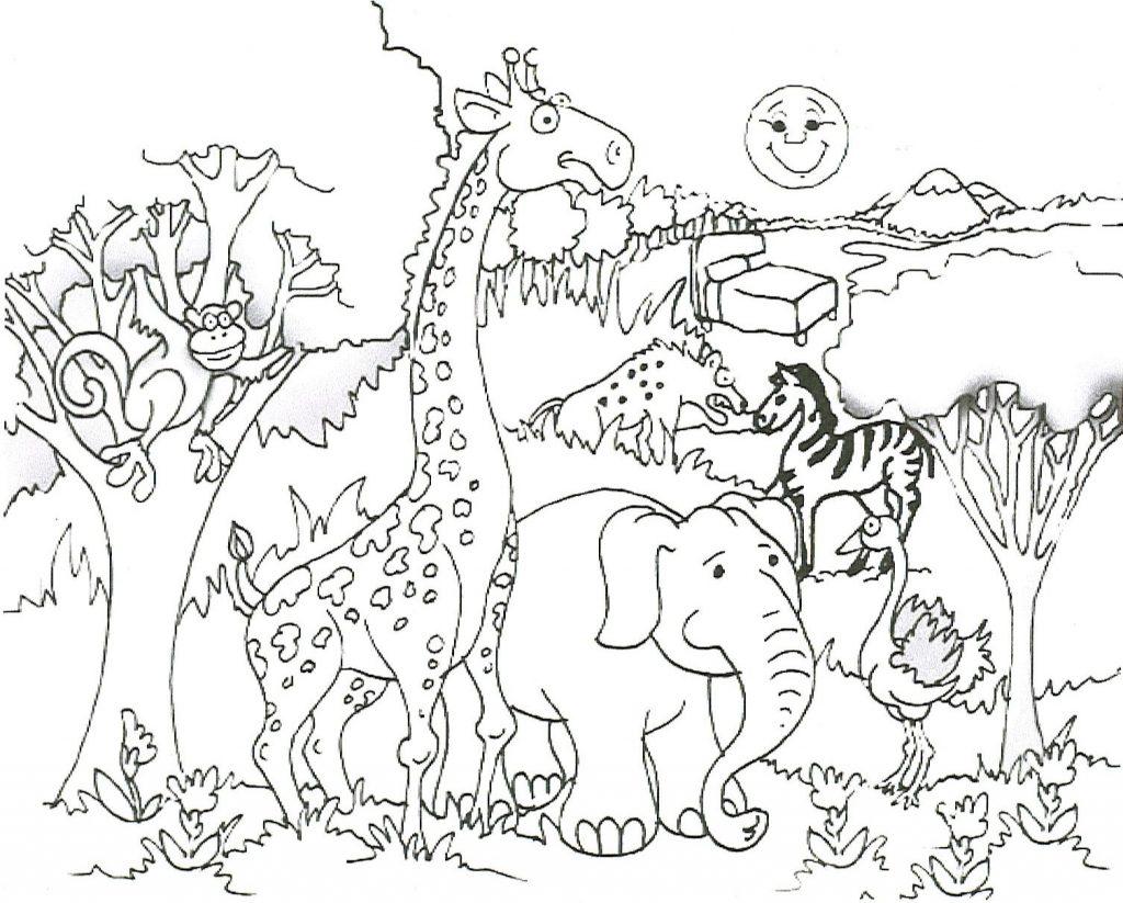 Free Printable Giraffe Coloring
