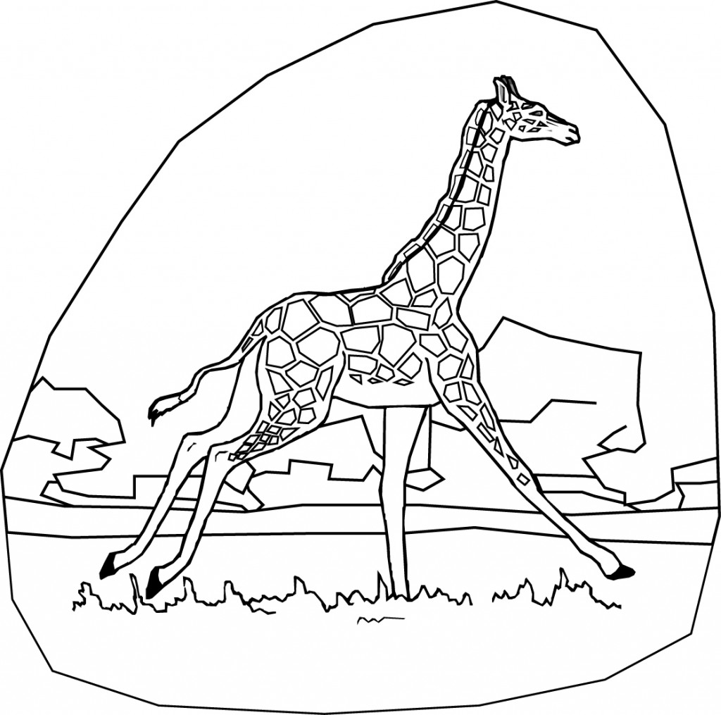 free giraffe coloring pages - photo#21