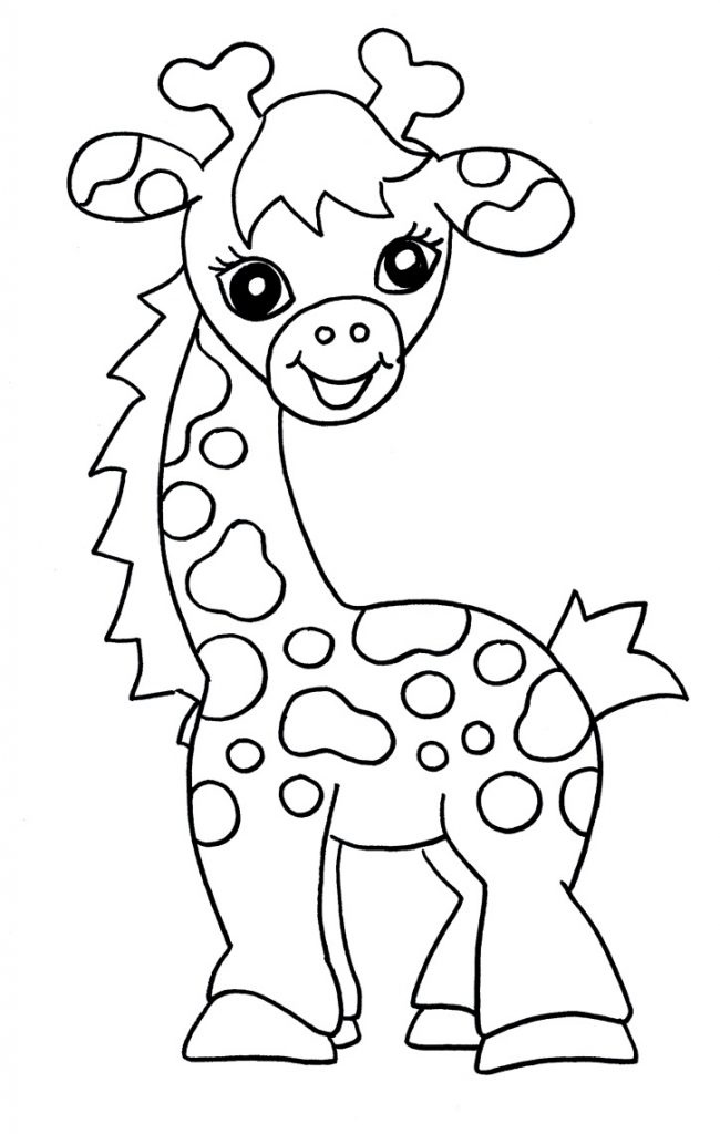 Giraffe Coloring Pages For Kids