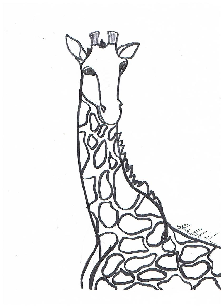 Christmas Giraffe Coloring Pages