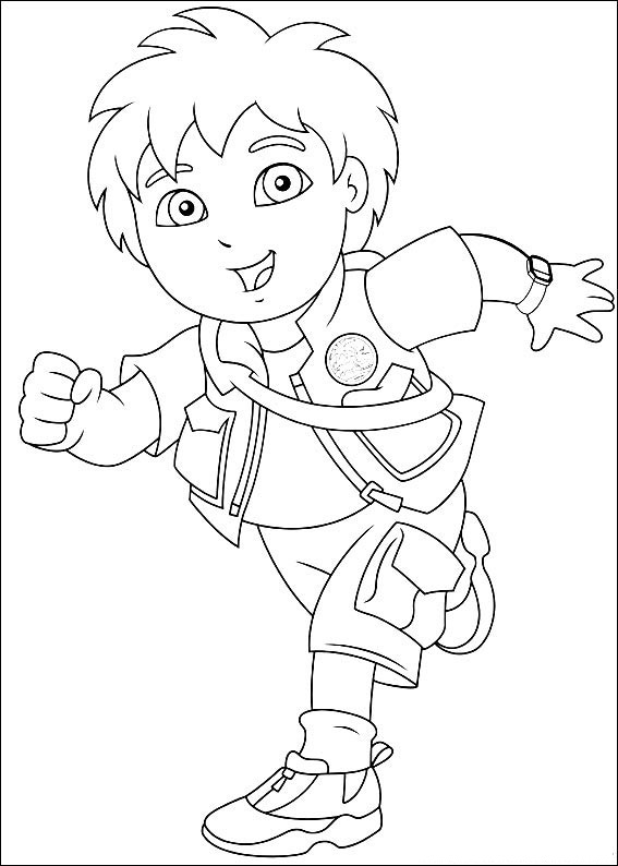 Go Diego Go Coloring Pages For Kids