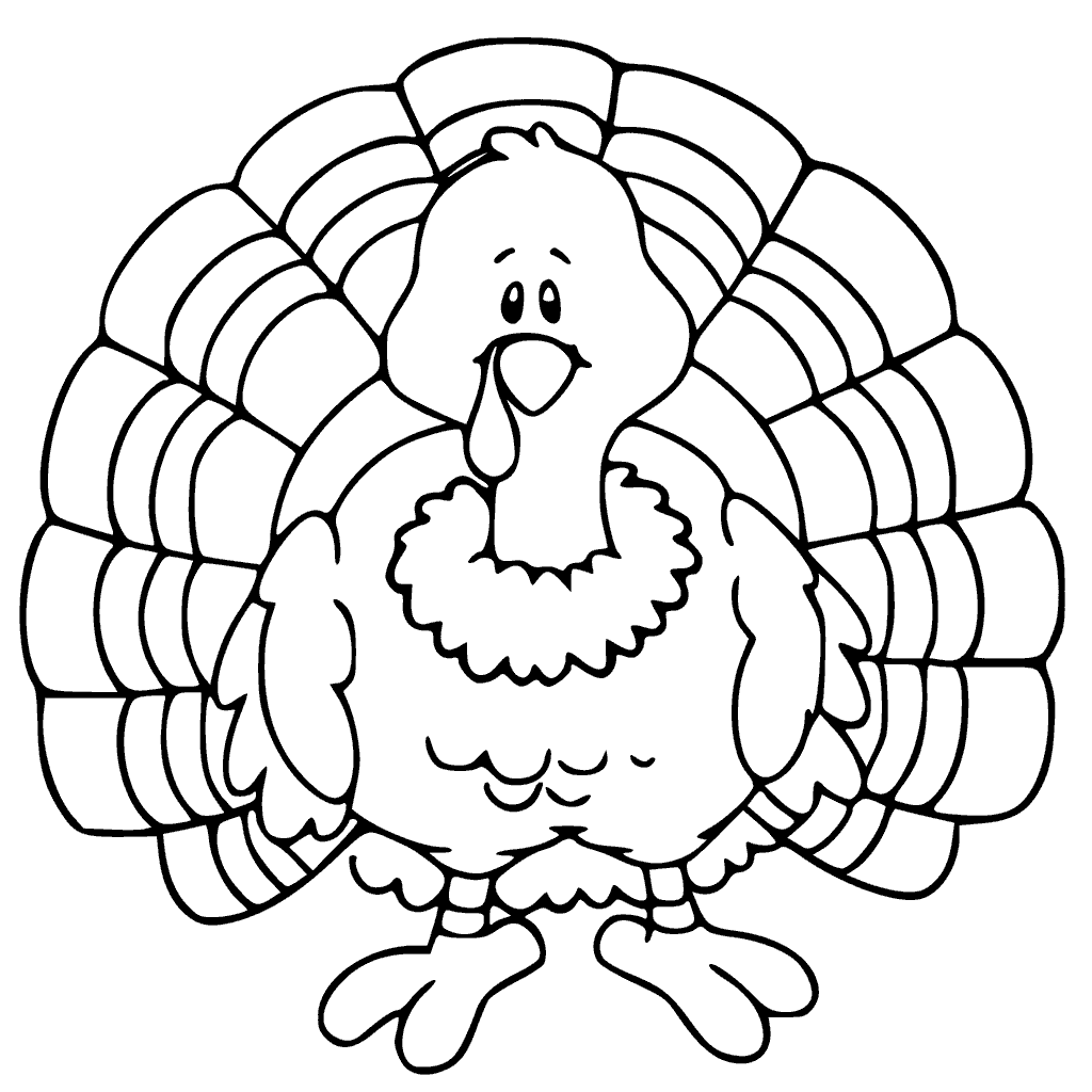 Gobble Turkey Thanksgiving Coloring Page