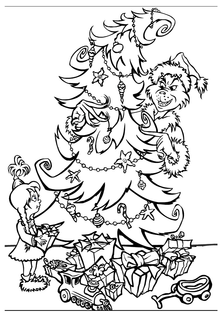grinch christmas coloring pages