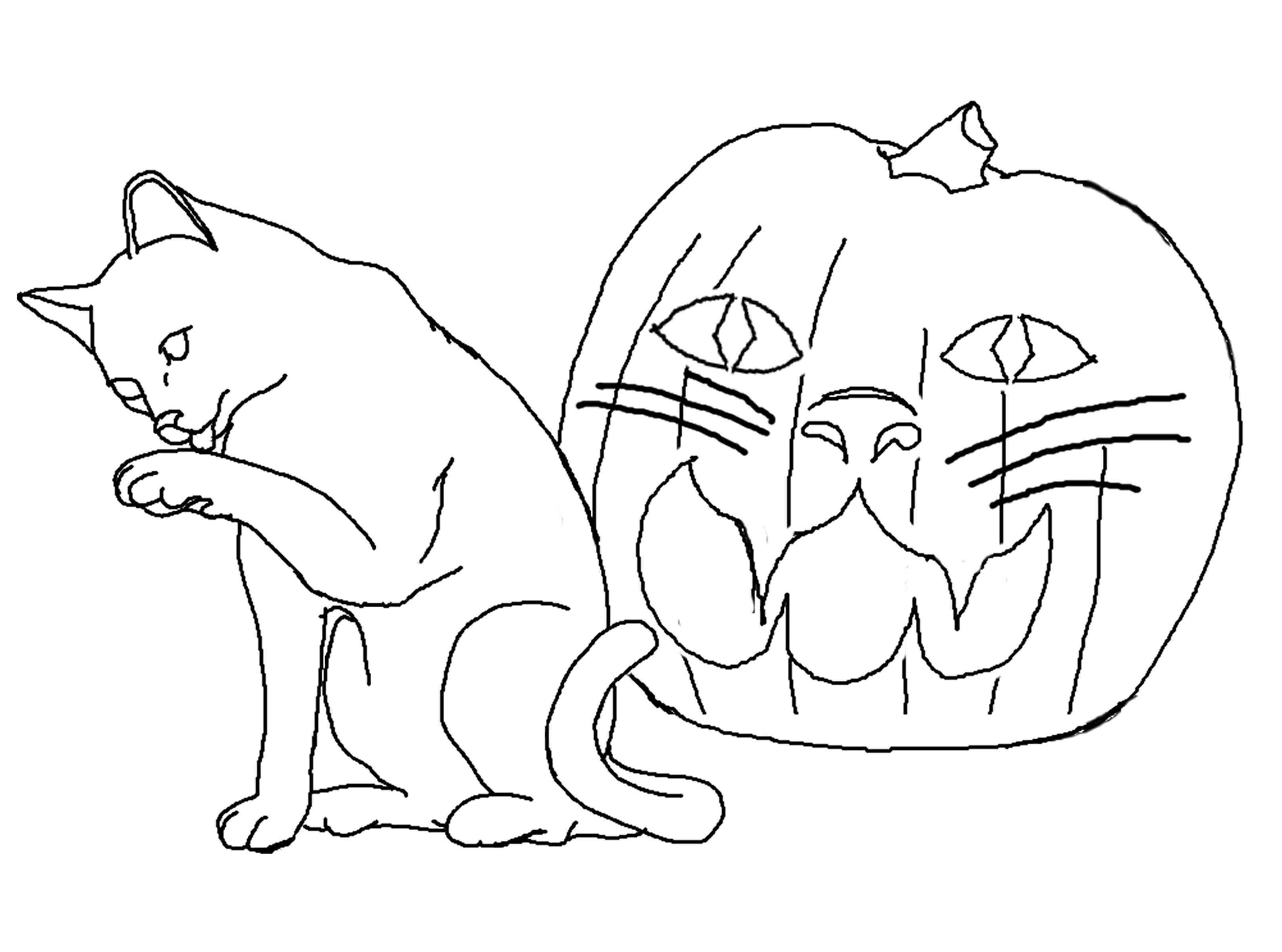 Halloween Coloring Pages Easy