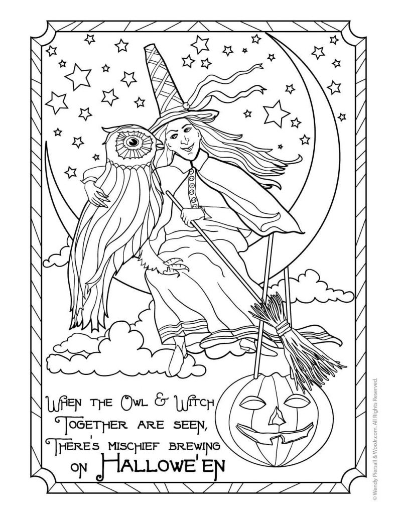 Halloween Witch Coloring Page