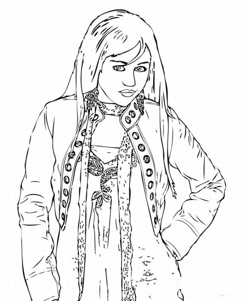 Montana free printable coloring pages ~ Free Printable Hannah Montana Coloring Pages For Kids
