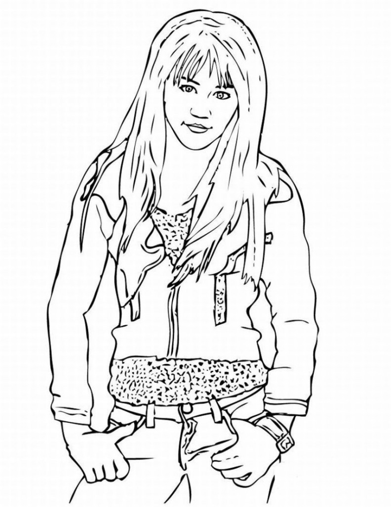 Hannah Montana Coloring Pages Free