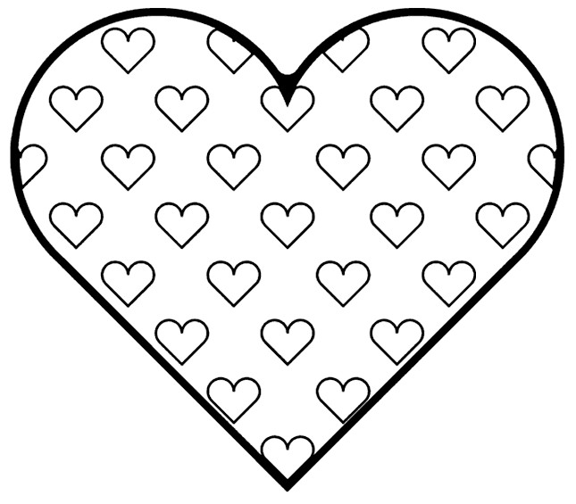 graphic regarding Free Printable Heart Coloring Pages identified as Free of charge Printable Center Coloring Internet pages For Children