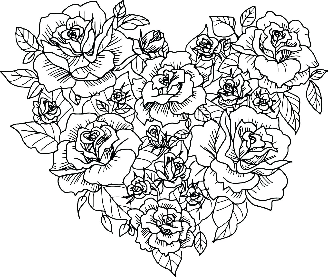 Free Printable Heart Coloring Pages For Kids | Heart coloring ... | 1137x1346
