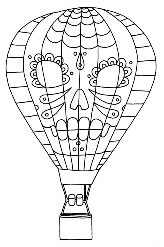 Sassy image with hot air balloon coloring pages free printable