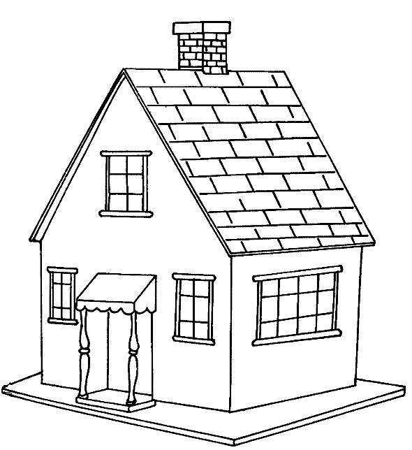 Free printable house coloring pages for kids for Como pintar mi casa por dentro