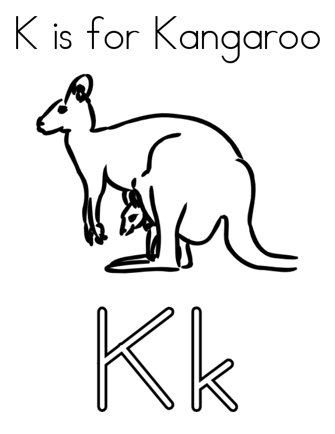Kangaroo Coloring Pages Kids