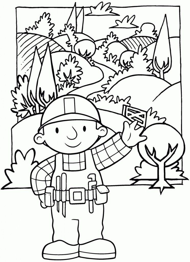 Kids Printable Bob The Builder Coloring Pages