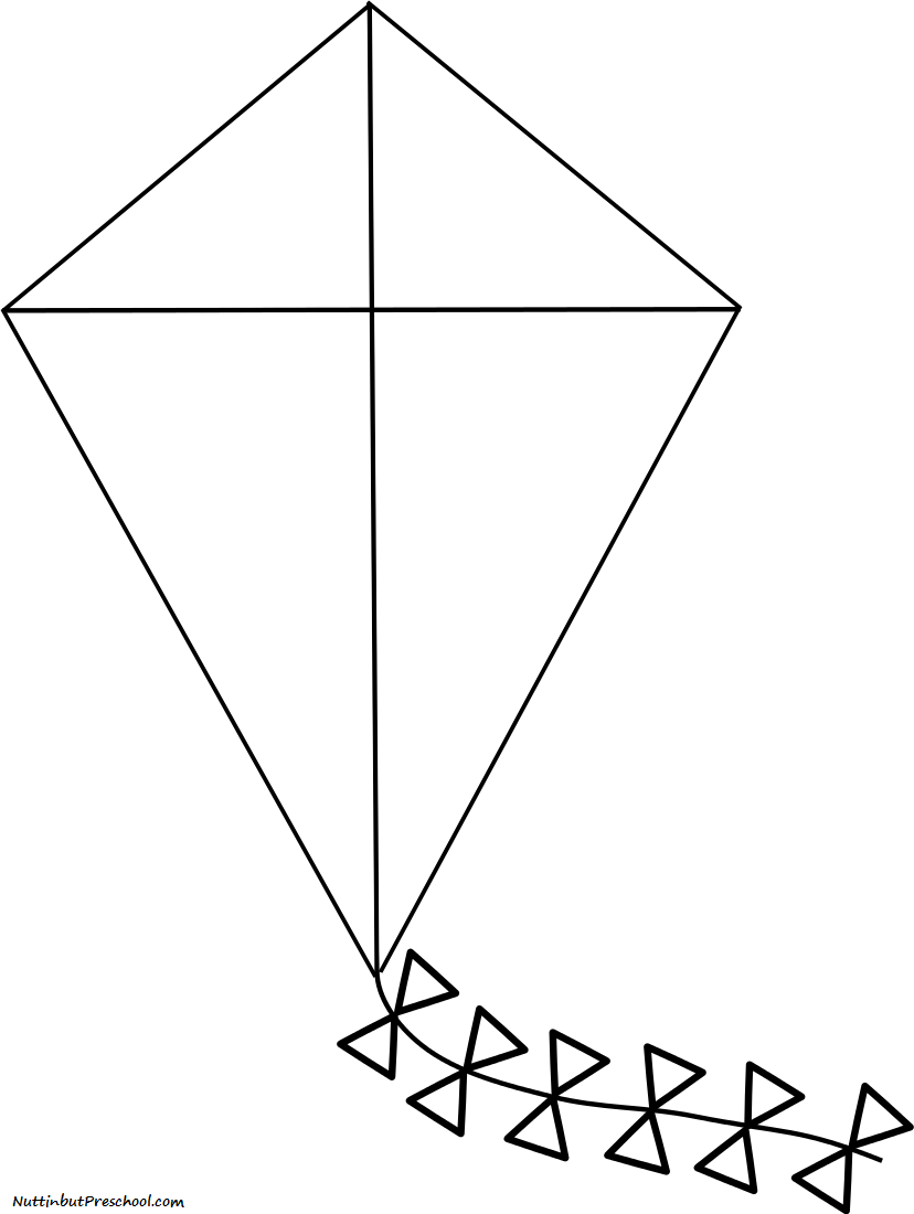 kite coloring pages - photo#24