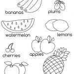Learn Fruits Coloring Page