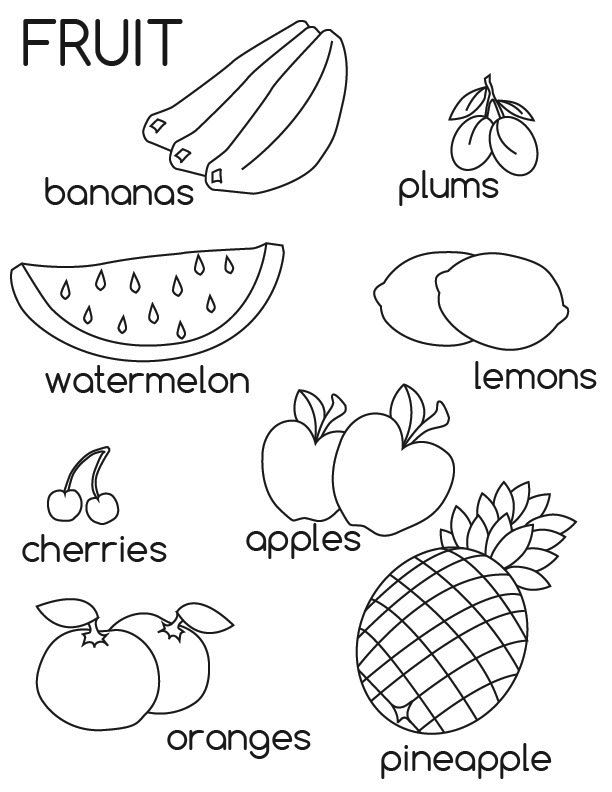 Free Printable Fruit Coloring Pages For Kidsrhbestcoloringpagesforkids: Apple Coloring Pages For Preschoolers Printable At Baymontmadison.com