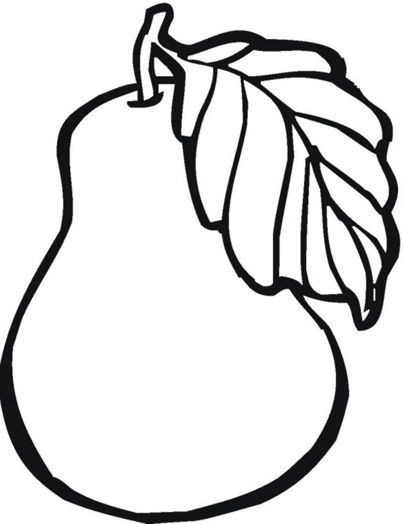 Pear - Fruit Coloring Pages