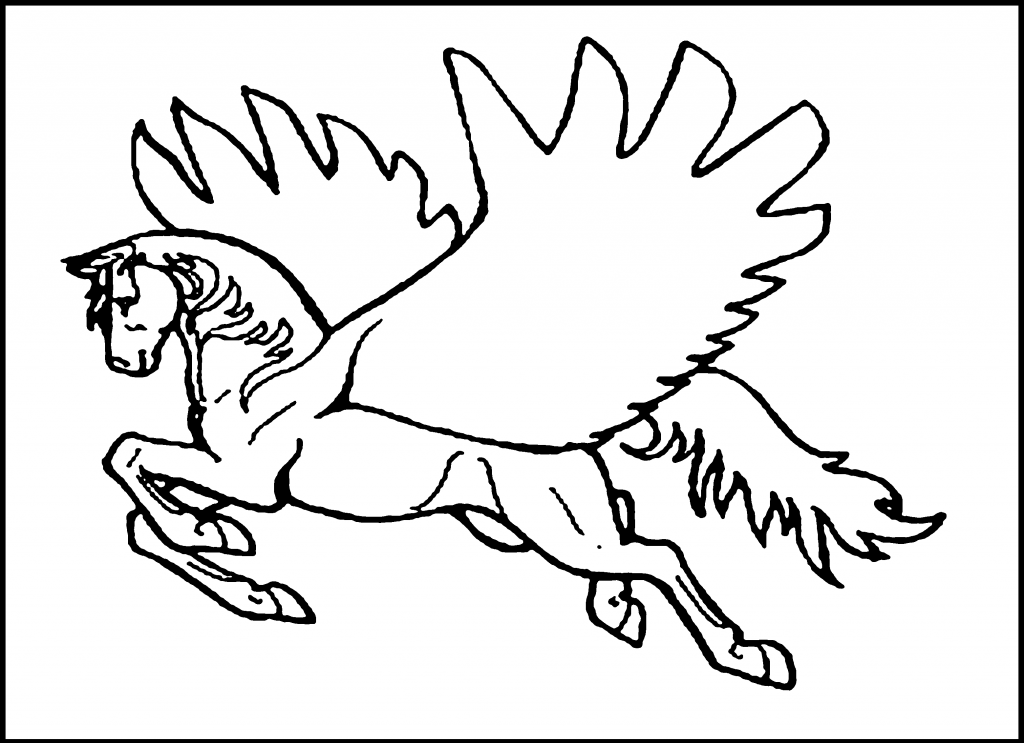 Pegasus Printable Coloring Pages