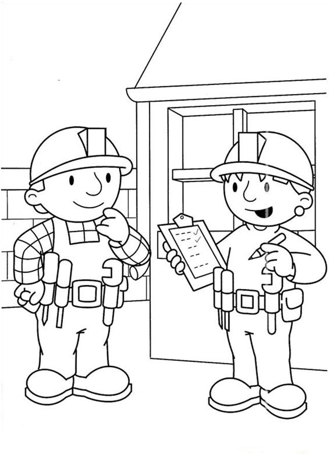 Photos of Bob The Builder Coloring Pages