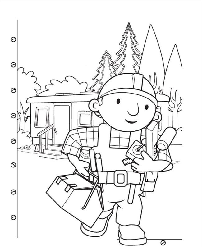 Picture of Bob The Builder Coloring Pages