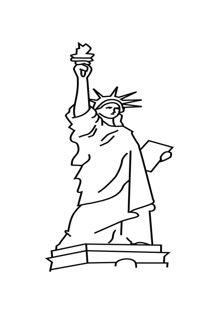 Pictures of Statue of Liberty Coloring Pages