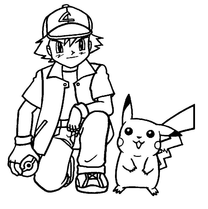 Pikachu Coloring Page Photos