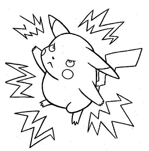 Pikachu Printable Coloring Pages