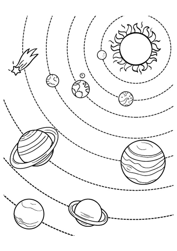 planets in space coloring pages - photo#31
